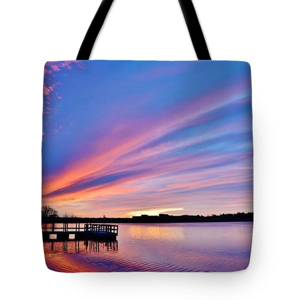 Sunrise Reflecting Tote Bag
