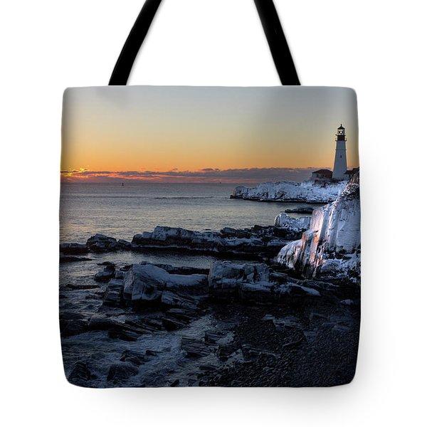 Sunrise Reflection Tote Bag