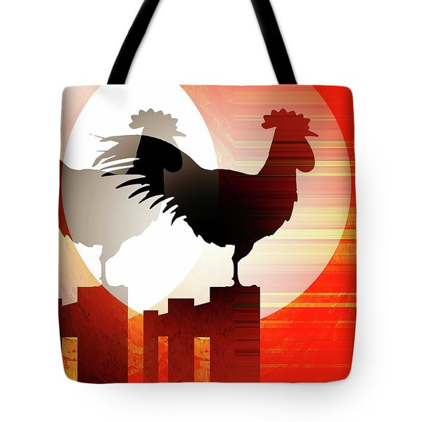 Tote Bag featuring the mixed media Sunrise Reflection by David Manlove