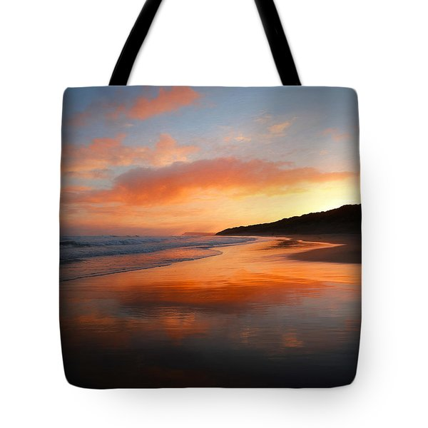 Tote Bag featuring the photograph Sunrise Reflection by Roy McPeak