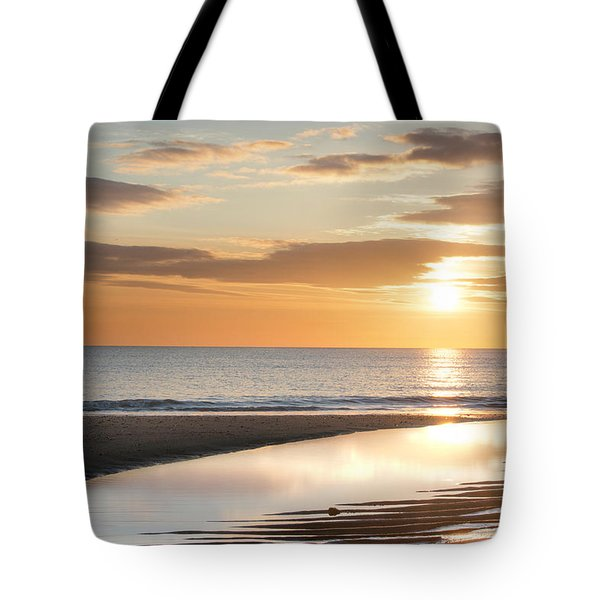 Sunrise Reflections At Aberdeen Beach Tote Bag