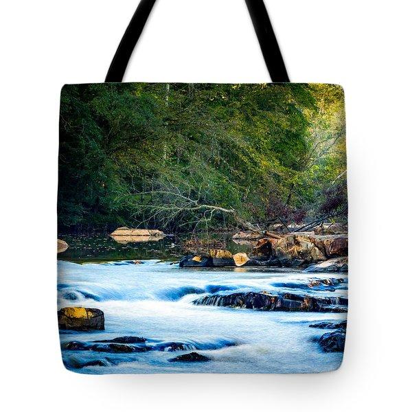 Sunrise River Tote Bag