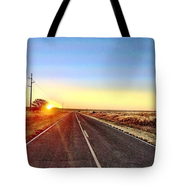 Sunrise Road Tote Bag