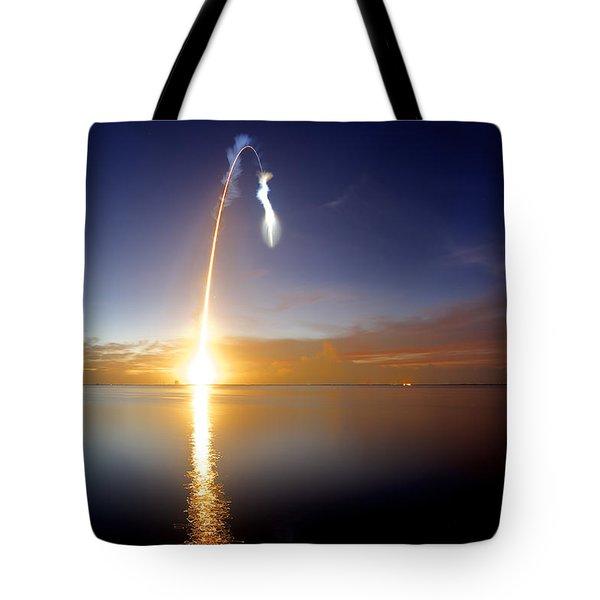Sunrise Rocket Tote Bag