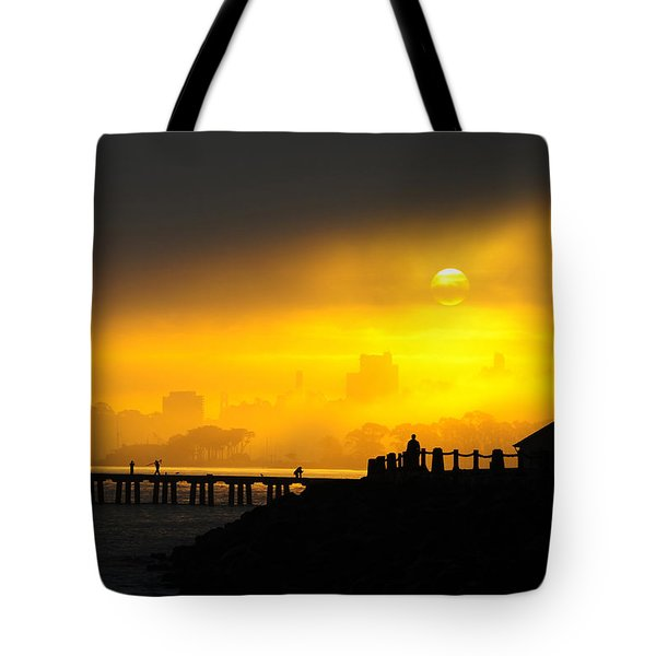Tote Bag featuring the photograph Sunrise San Francisco by Steve Siri