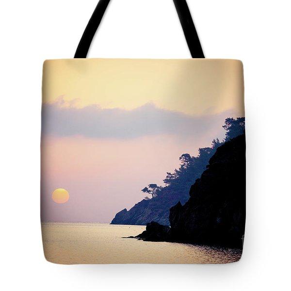 Sunrise Sea Rythm  Tote Bag