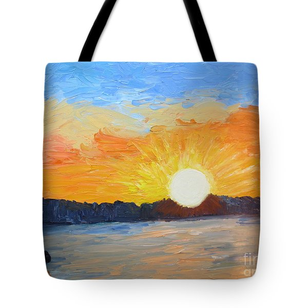 Sunrise At Pine Point Tote Bag