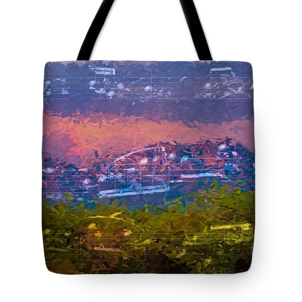 Sunrise Serenade 3 Tote Bag by Lon Chaffin