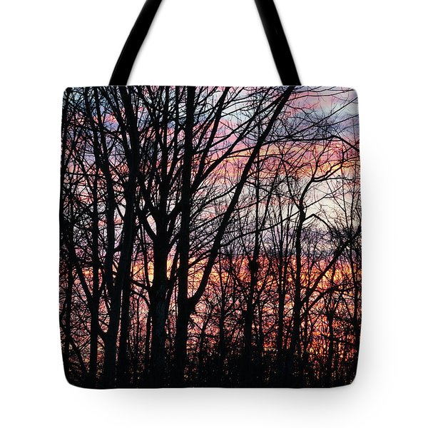 Sunrise Silhouette And Light Tote Bag