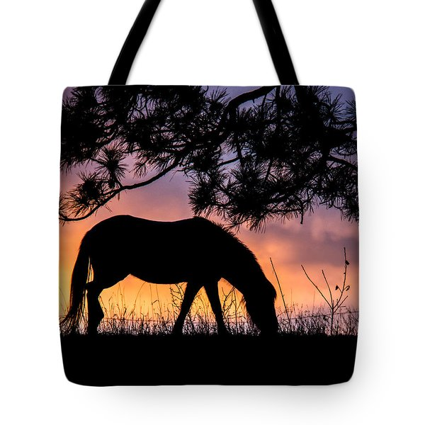 Sunrise Silhouette Tote Bag