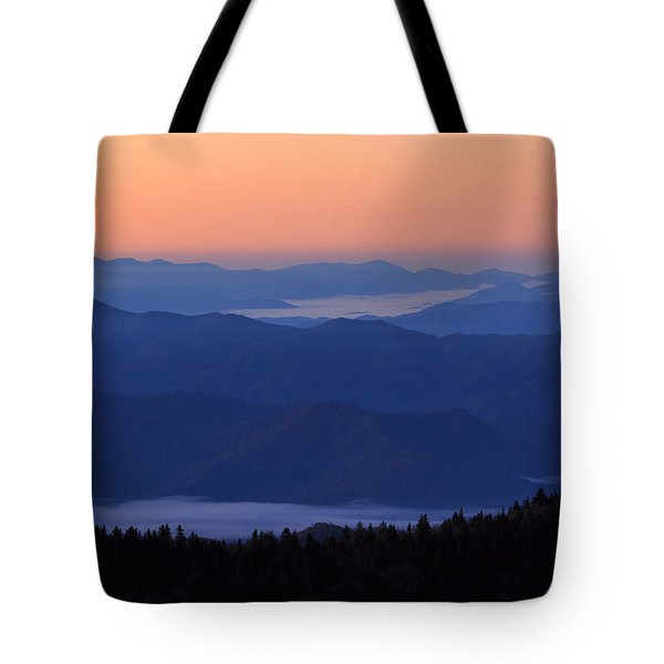 Tote Bag featuring the photograph Sunrise Silhouette by Paul Schultz