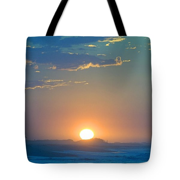 Tote Bag featuring the photograph Sunrise Sky by  Newwwman