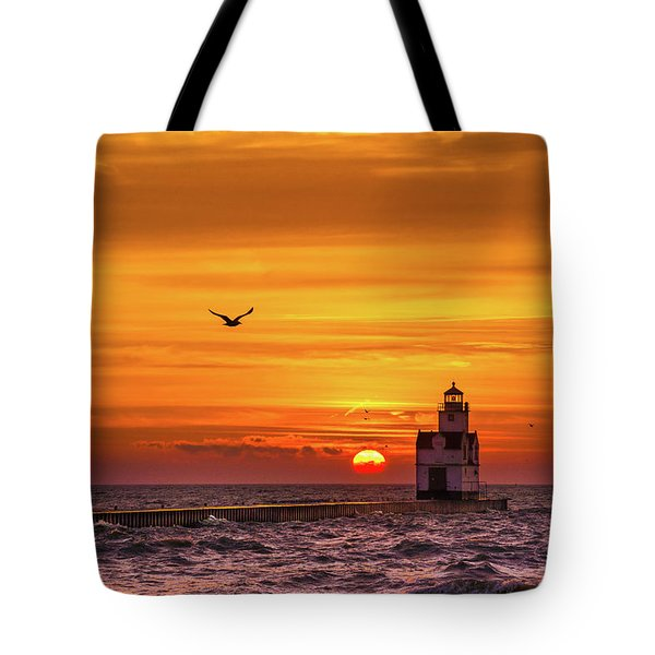 Tote Bag featuring the photograph Sunrise Solo by Bill Pevlor