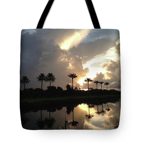 Sunrise Storm Tote Bag