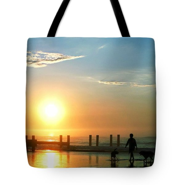 Sunrise Stroll Tote Bag