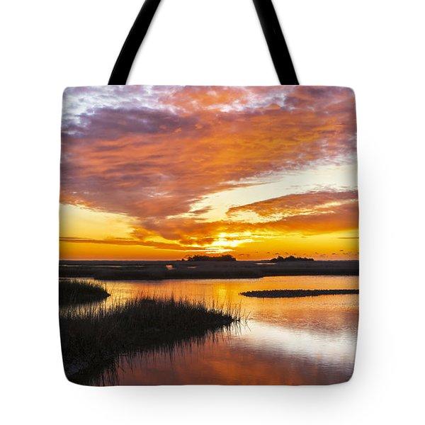 Sunrise Sunset Art Photo - Volcano 2 Tote Bag