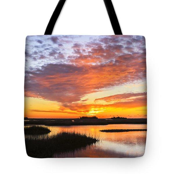 Sunrise Sunset Art Photo - Volcano Tote Bag