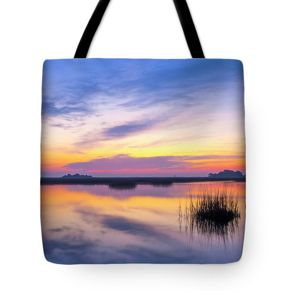 Sunrise Sunset Image Art - Lavender Lace Tote Bag