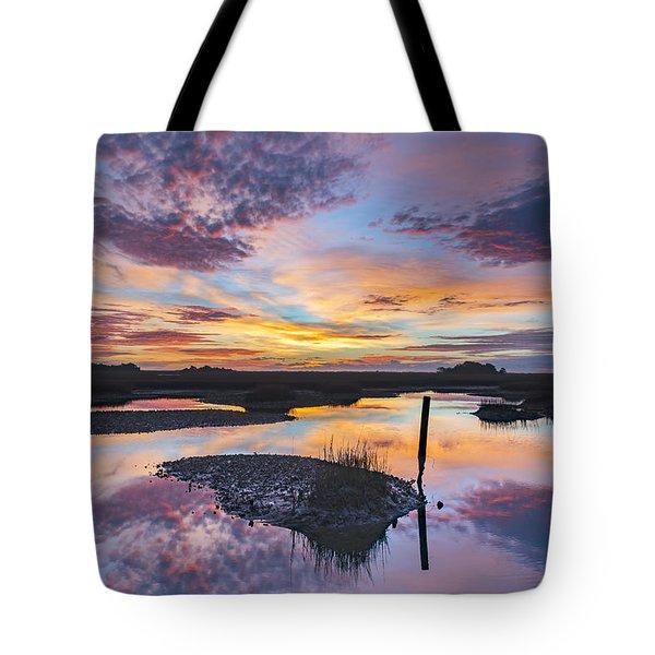 Sunrise Sunset Phot Art - Graffiti Sky Tote Bag