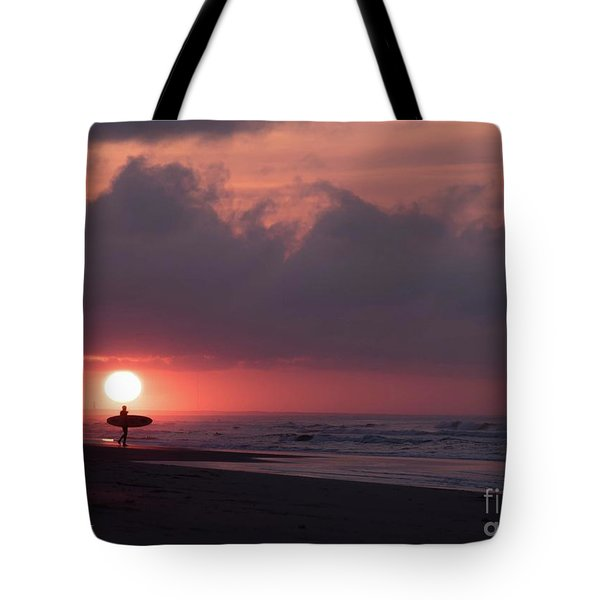 Sunrise Surfer Tote Bag