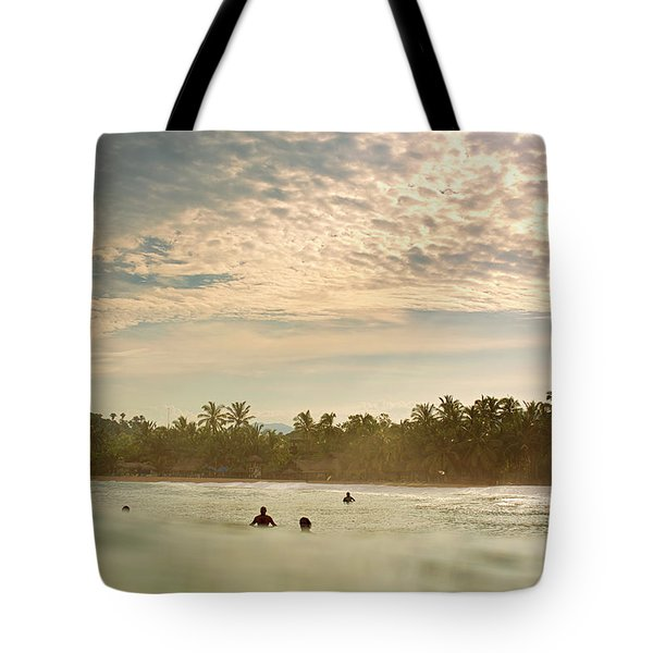 Sunrise Surfers Tote Bag