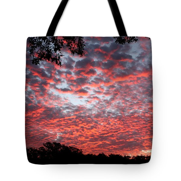 Sunrise Through The Trees Tote Bag by Sheila Brown