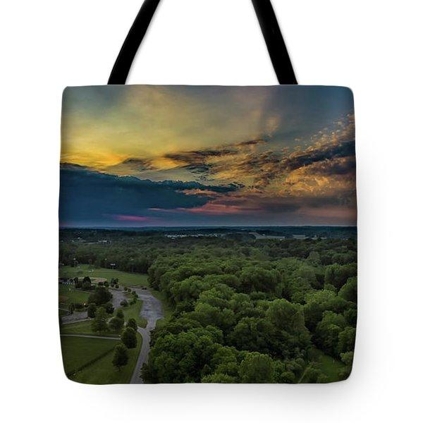 Sunrise Thru The Clouds Tote Bag