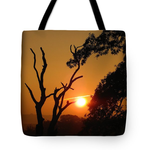 Sunrise Trees Tote Bag