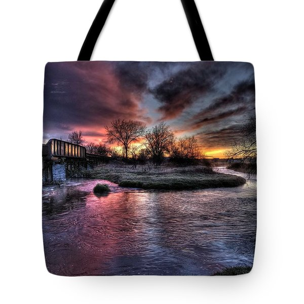 Sunrise Trestle #1 Tote Bag