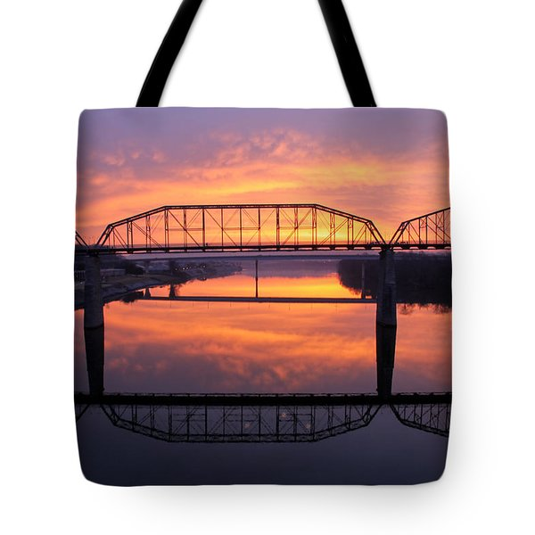 Sunrise Walnut Street Bridge 2 Tote Bag