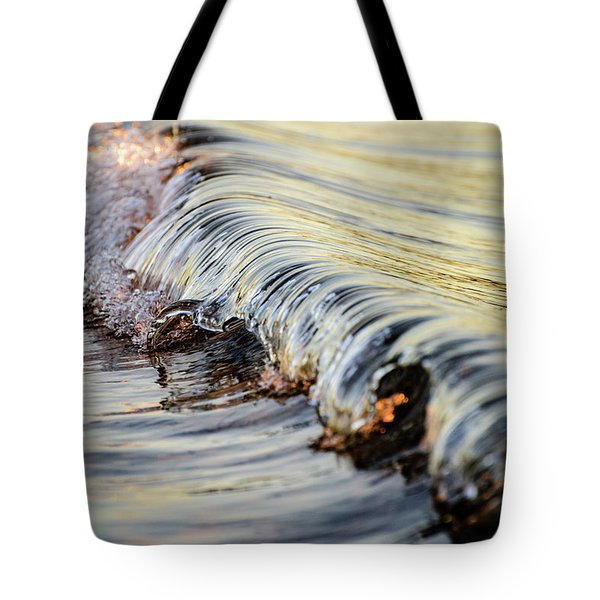 Tote Bag featuring the photograph Sunrise Wave by Brad Wenskoski