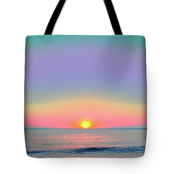 Sunrise With Digits Tote Bag by Cloe Couturier