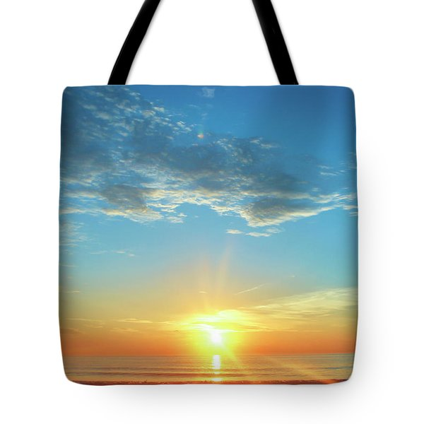 Sunrise With Flare Tote Bag