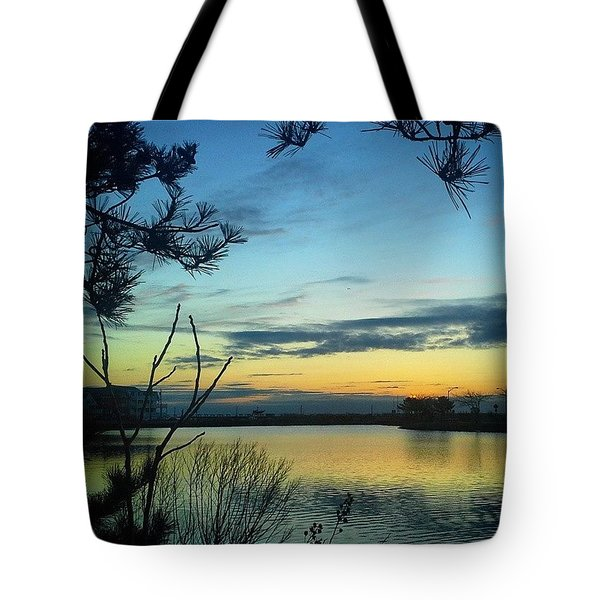 Sunrise Serenity Tote Bag by Lauren Fitzpatrick