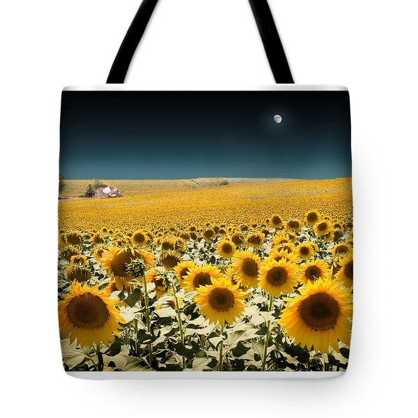 Suns And A Moon Tote Bag by Mal Bray