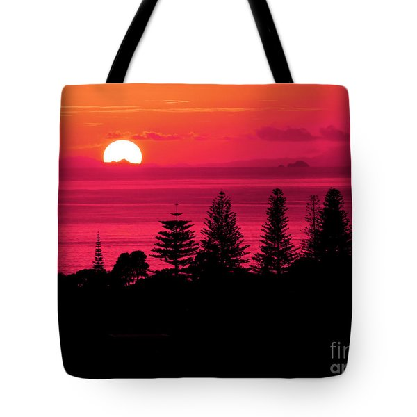 Suns Up Tote Bag by Karen Lewis