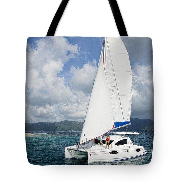 Sunsail Catamaran Tote Bag
