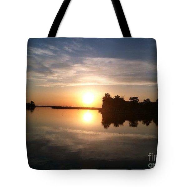 Sunset @ Rend Lake Tote Bag