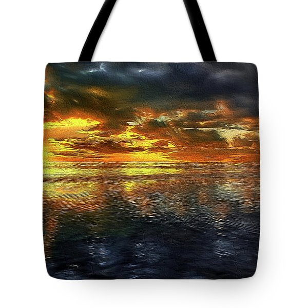 Sunset #95 Or Sunset Over The Atlantic. Tote Bag