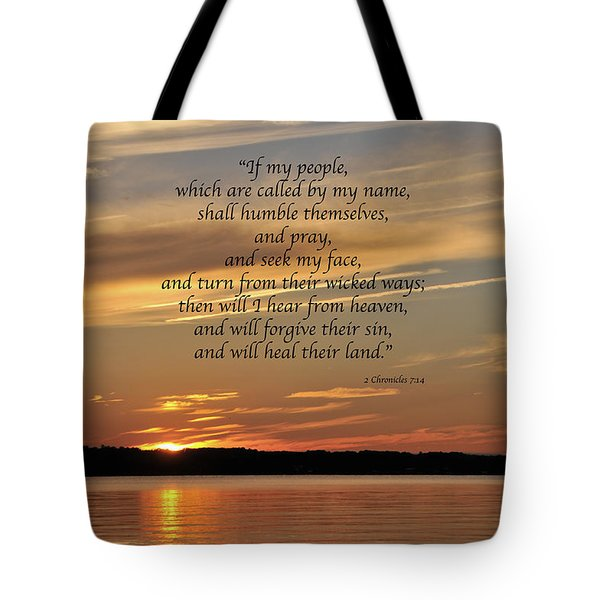 Sunset 2 Chronicles 7 Tote Bag