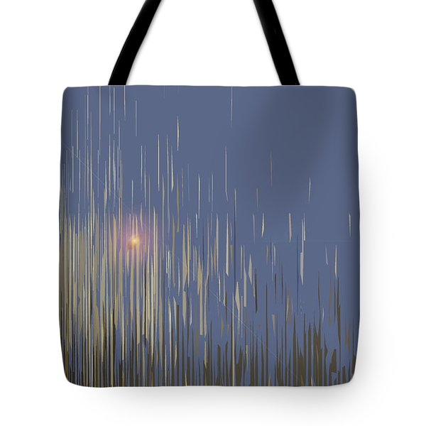 Tote Bag featuring the digital art Sunset Across The Lake by Gina Harrison