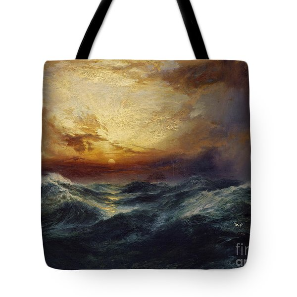 Sunset After A Storm Tote Bag by Thomas Moran