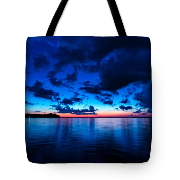 Tote Bag featuring the photograph Sunset After Glow by Christopher Holmes