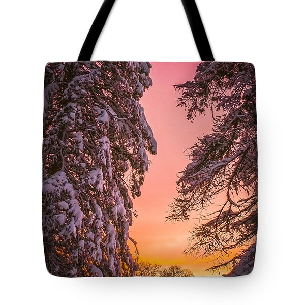 Sunset After Snow Tote Bag by Mike Ste Marie