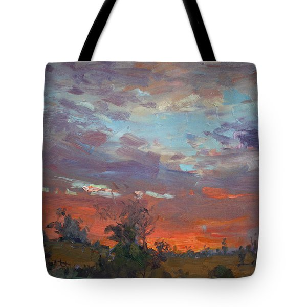 Sunset After Thunderstorm Tote Bag