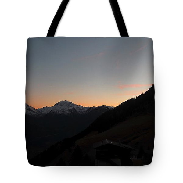 Sunset Afterglow In The Mountains Tote Bag