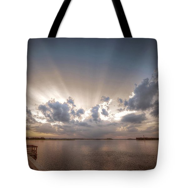 Sunset Aftermath Tote Bag