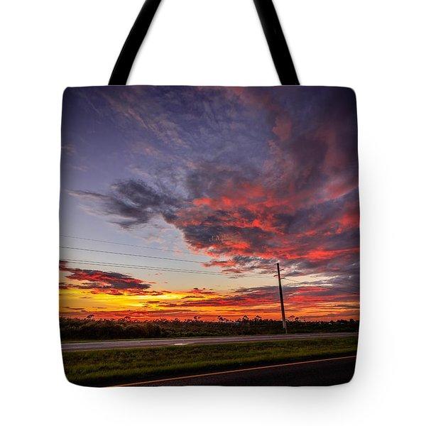 Sunset Along Jd Tote Bag