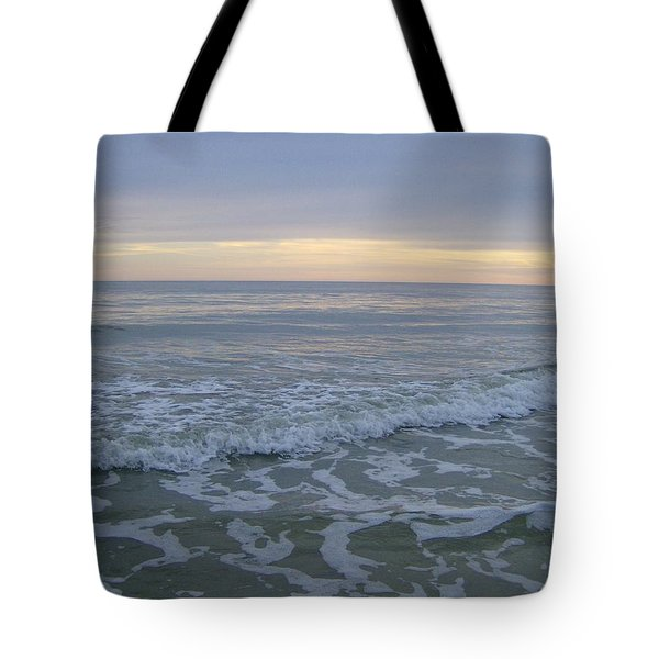 Tote Bag featuring the photograph Sunset Along Oak Island by Skyler Tipton