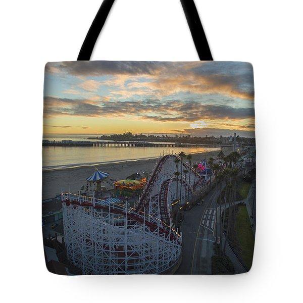 Sunset Amusement Tote Bag